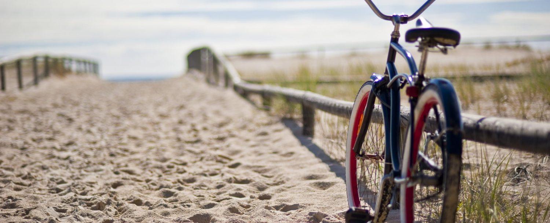 bike left at the beach