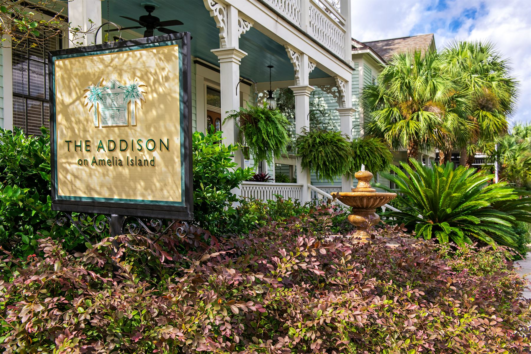 Exterior with dappled light at The Addison on Amelia Island