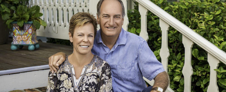 Ron & Lisa on the steps at The Addison on Amelia Island