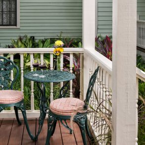 Room 9 at The Addison on Amelia Island - Wrought iron chairs and table on the patio