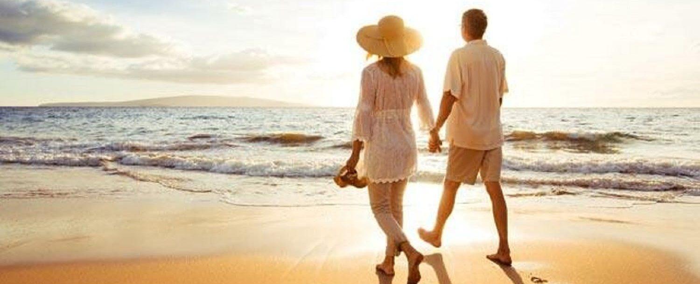 Couple on beach at Amelia Island Beach