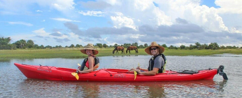 Kayaking Couple on Amelia Island