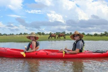 Kayaking Couple on Amelia Island