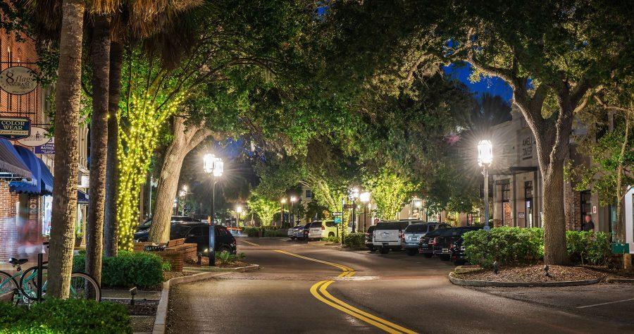 Night Street on Amelia Island