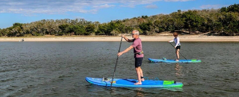 paddleboarding on Amelia Island
