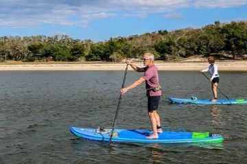 paddleboarding on Amelia Island