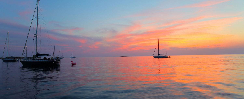 Amelia Island boats at sunset
